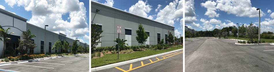 After landscaping installation for commercial building in Weston, FL.