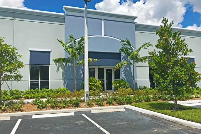 New landscaping installed at office building in Weston, FL.